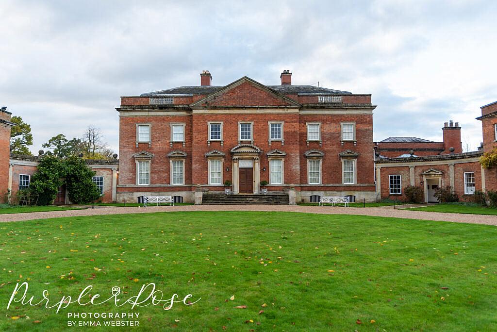 Outside of Kelmarsh Hall Northampton