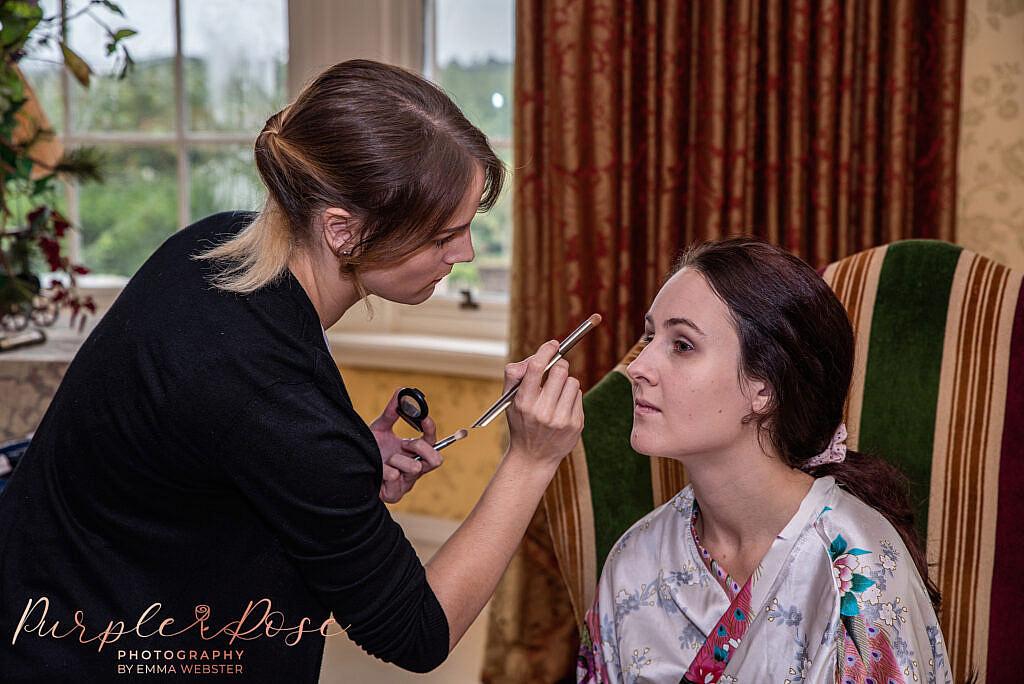 Make up artists at work