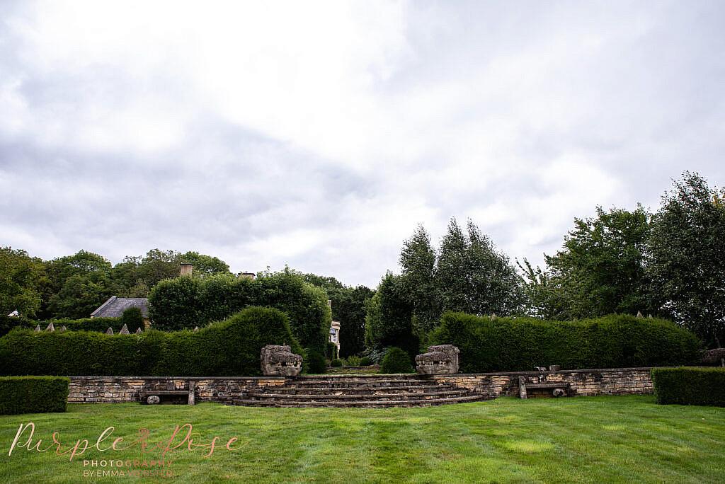 Steps leading to wedding venue