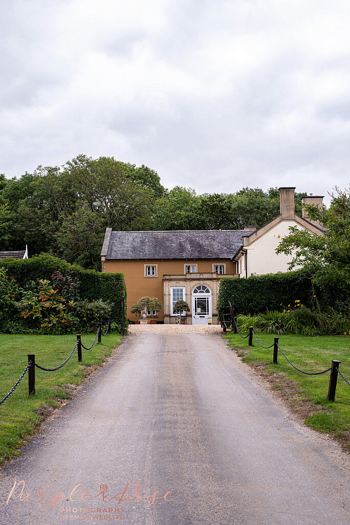 Road leading to Ladywood Estate wedding venue
