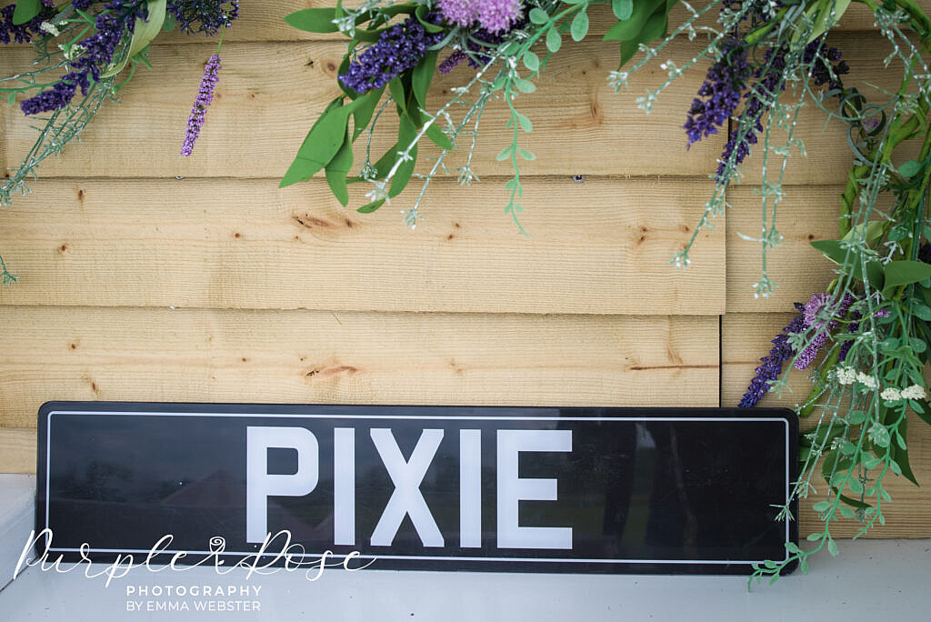 Pixie photo booth sign