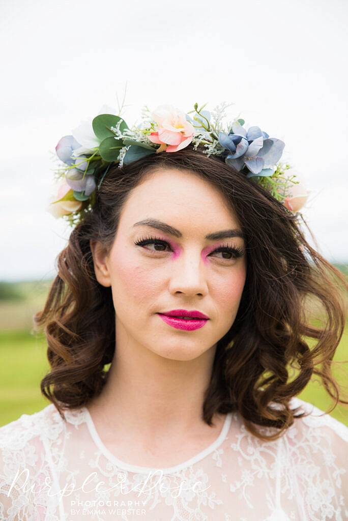 festival bridal hair and makeup