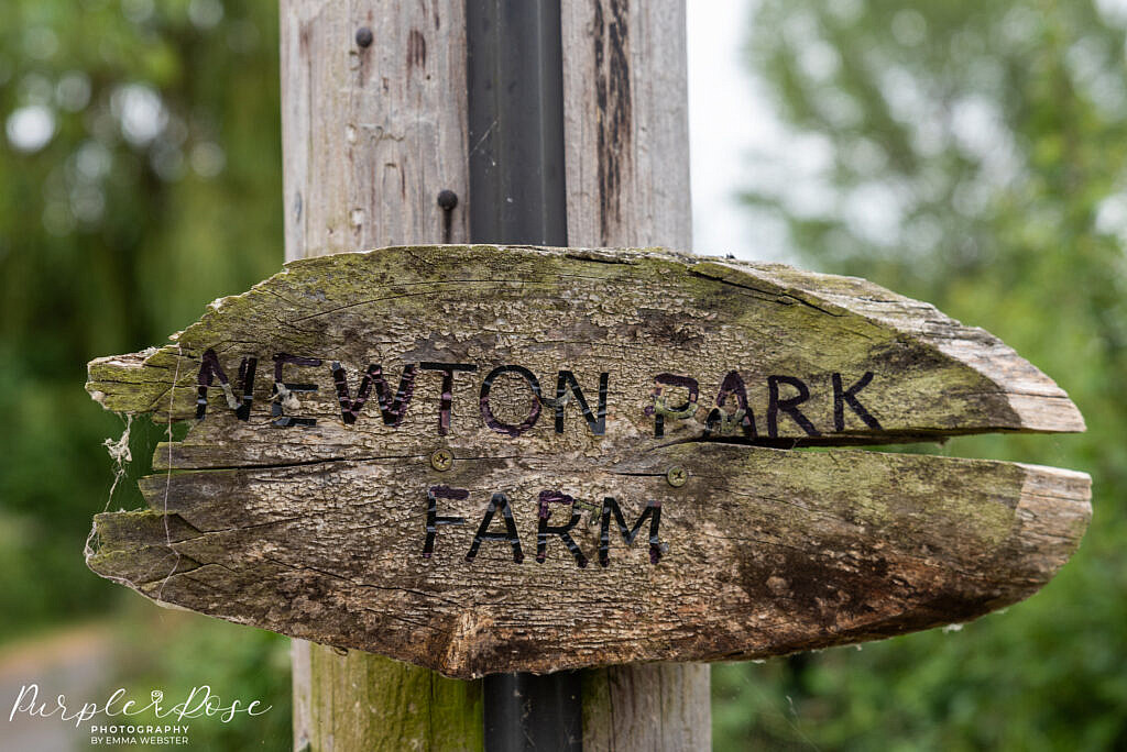 Newton park Farm sign