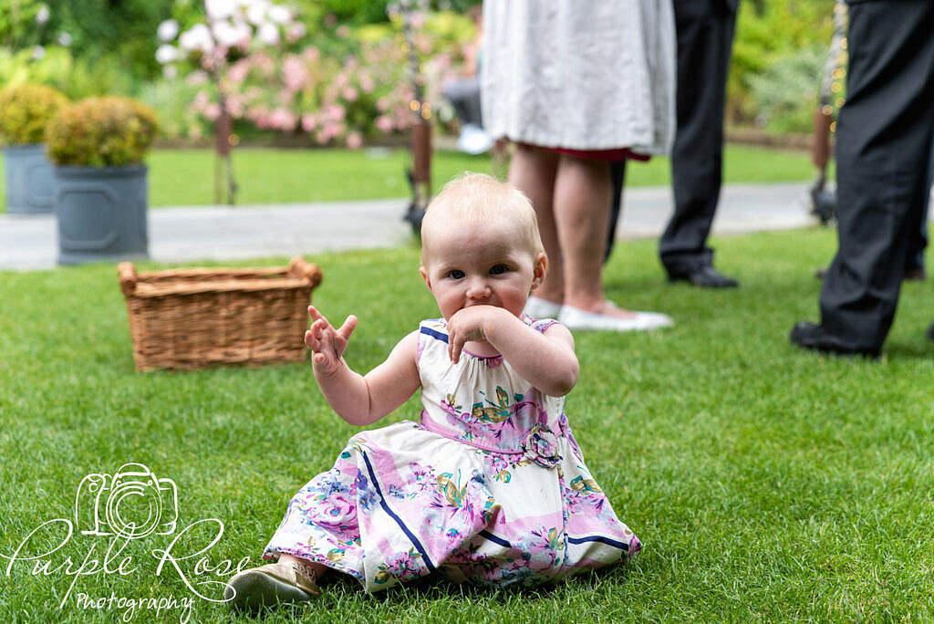 Baby at a wedding