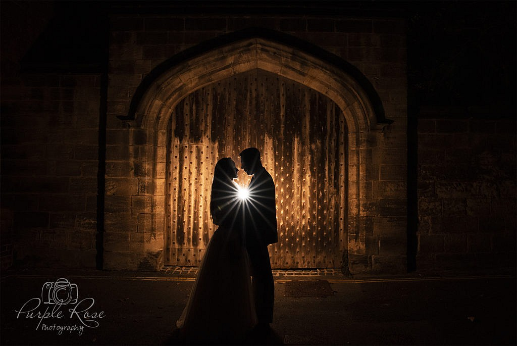 Nigh time wedding photo