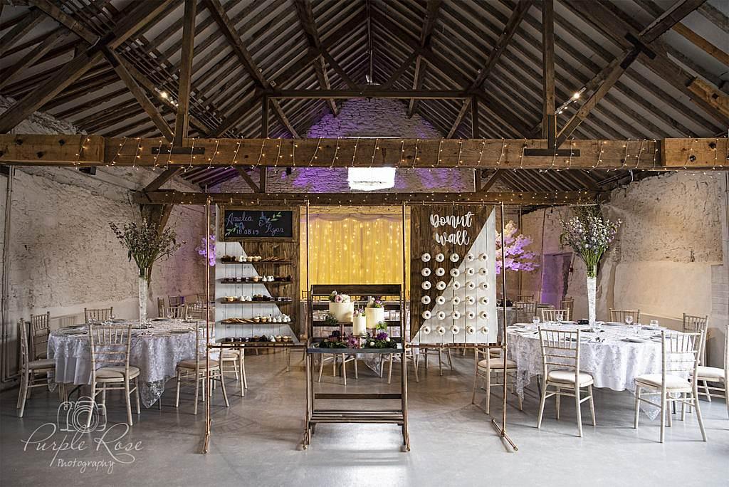 Cruck Barn in Milton Keynes ready for a wedding