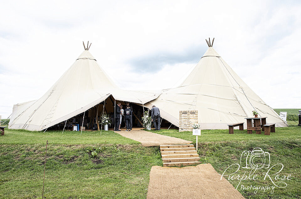 Wedding tipi's