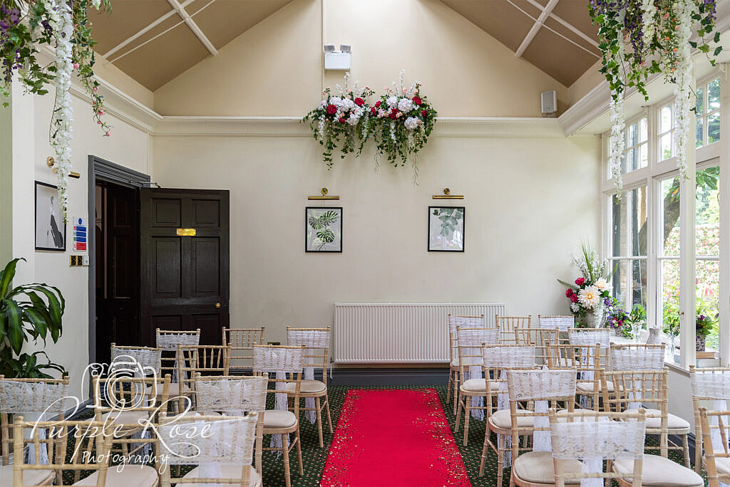 Ceremony room at Woodlands Manor Bedford