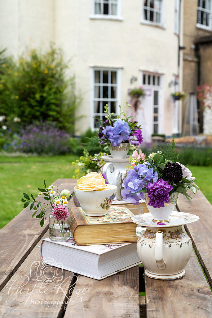 Alice in wonderland inspired floral display