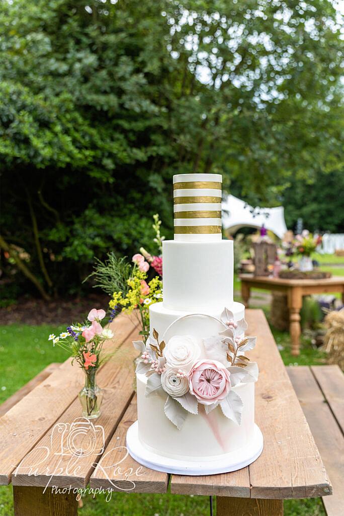 Wedding cake at Woodlands Manor Bedford