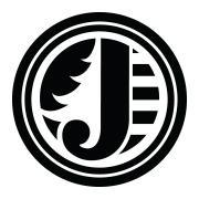 the letter j in a circle with a tree in the background - the jord logo