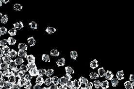 diamonds on a black back drop