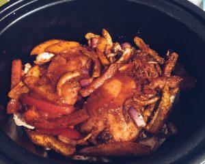 slow cooker chicken fajita