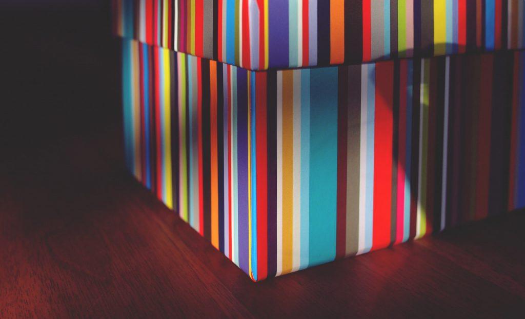 a multicoloured gift box