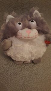 grey cuddly toy kitten