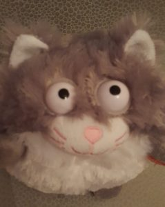 close up of the kitten toy