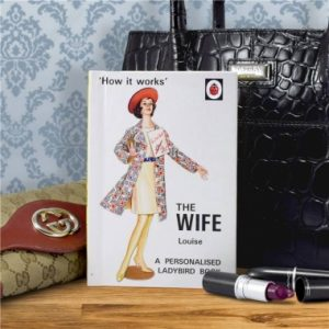 personalised book infront of a handbag