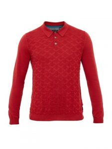 red wool jumper