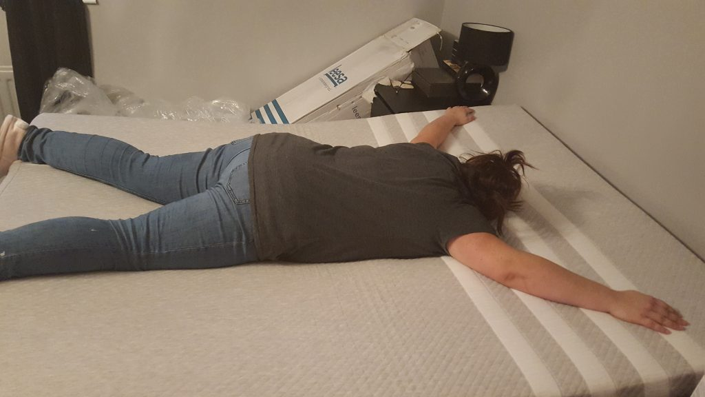me starfished on the mattress