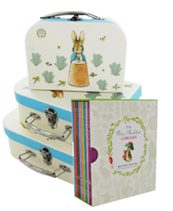 beatrix Potter books and storage cases