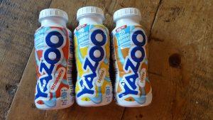 3 bottles of yazoo milkshake
