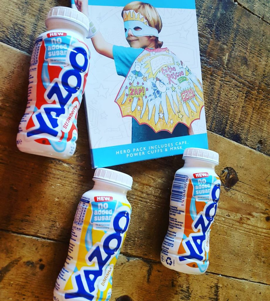 3 bottles of yazoo milkshake and a fancy dress kit