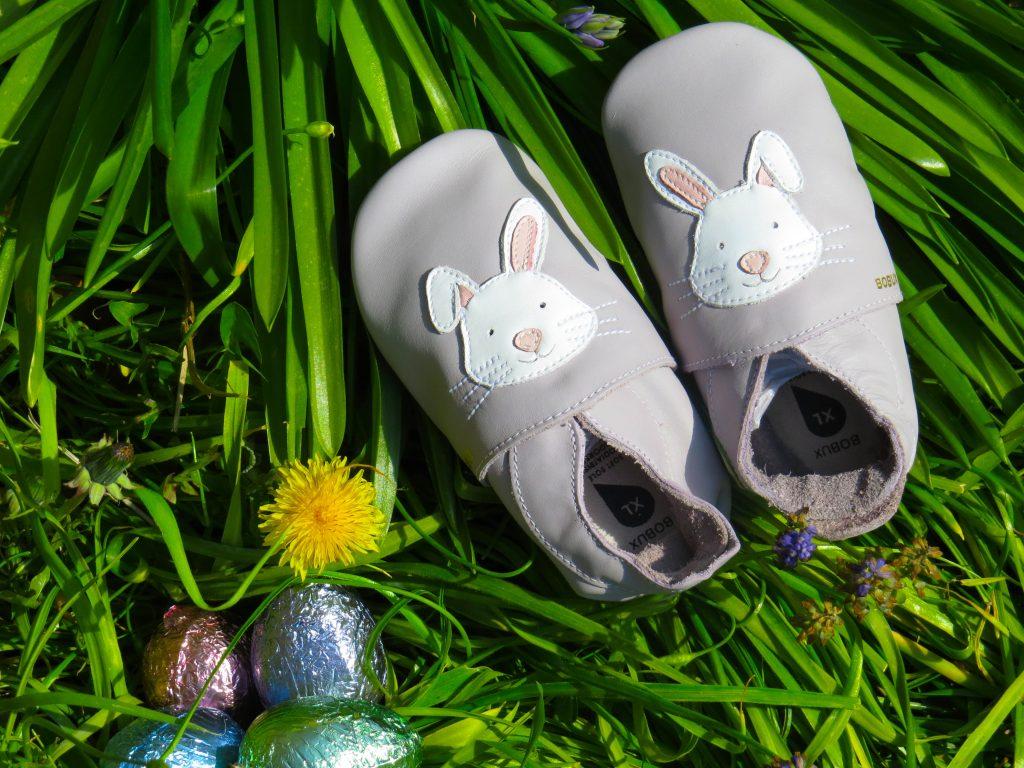 bobux grey bunny slippers