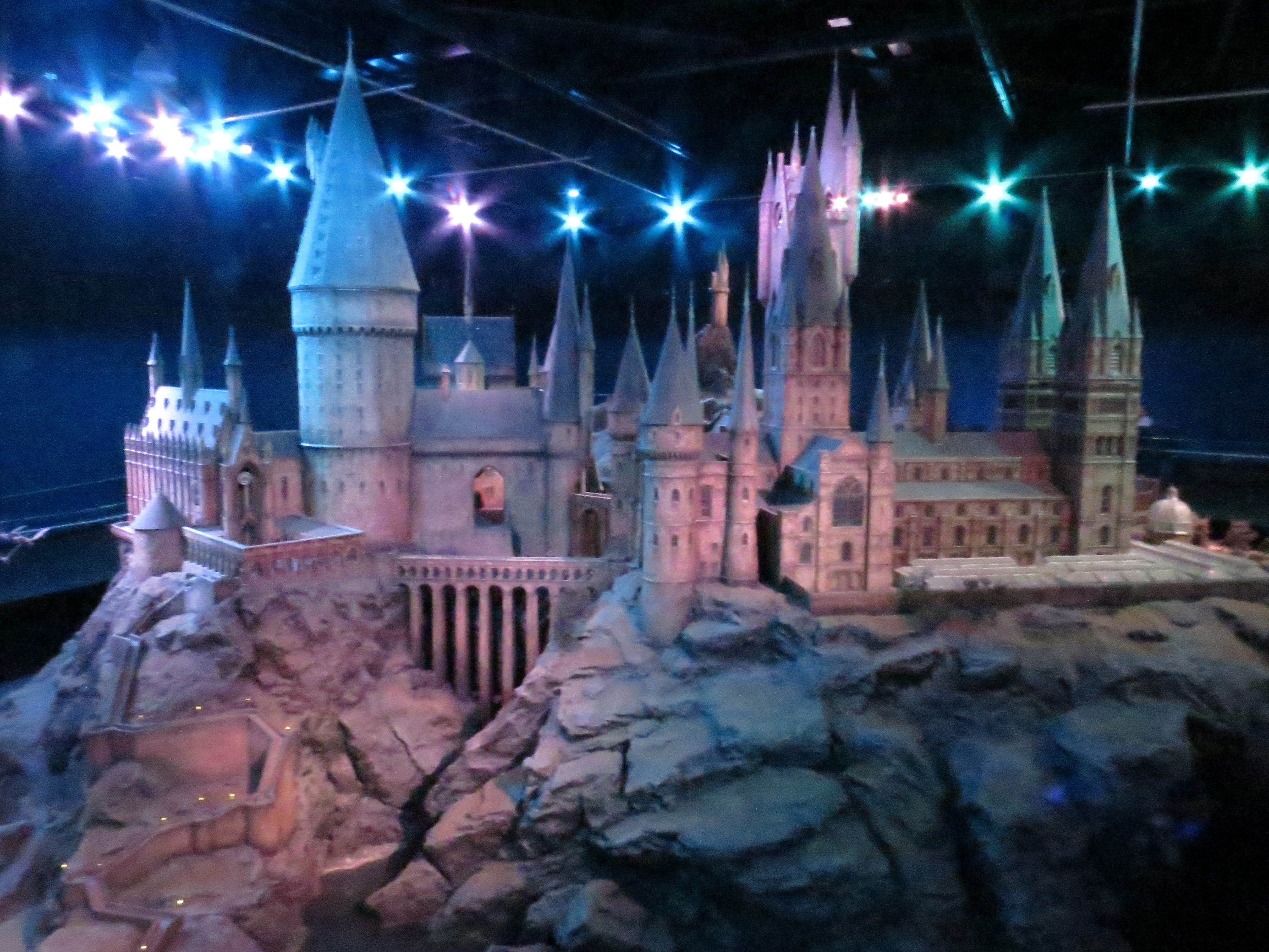 A to scale model of Hogwarts Castle