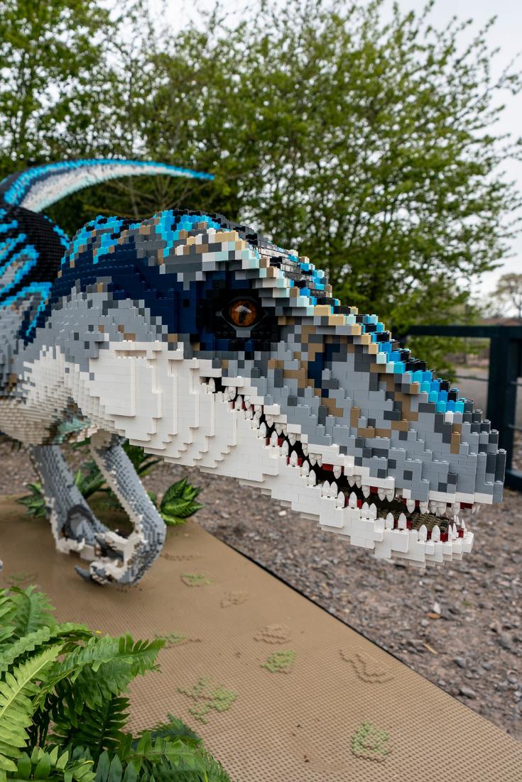 a lego dinosaur