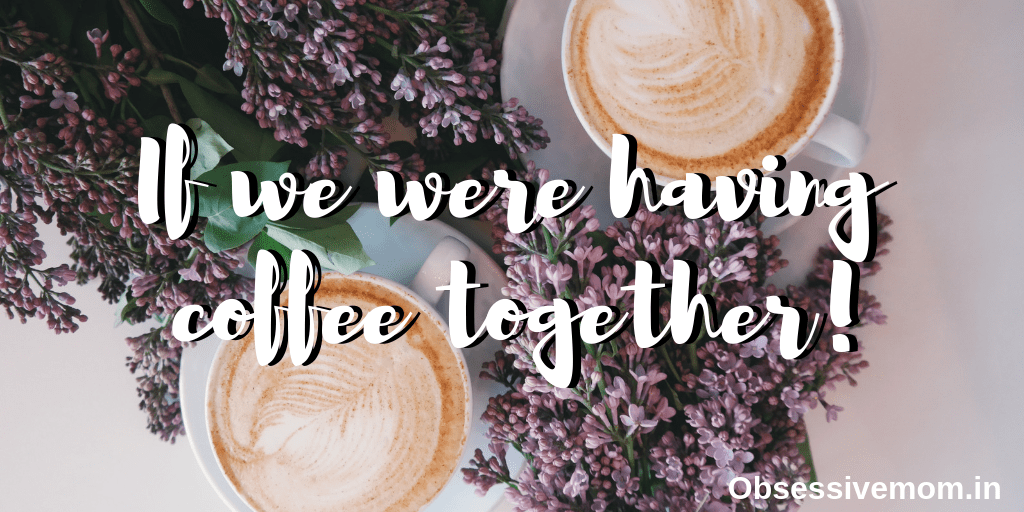 writing over lavender and coffee cups
