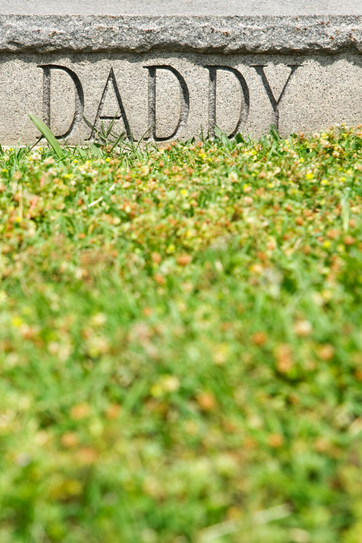 piece of stone with daddy on it