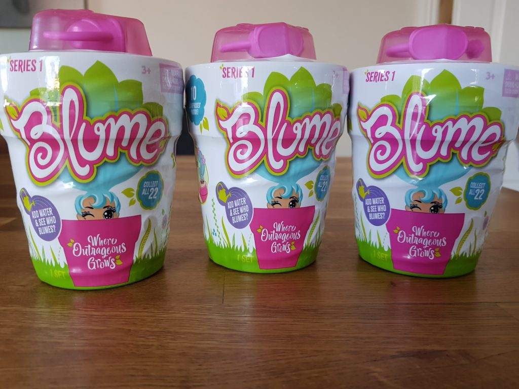 Blume dolls in their packets