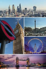 collage of different things about London