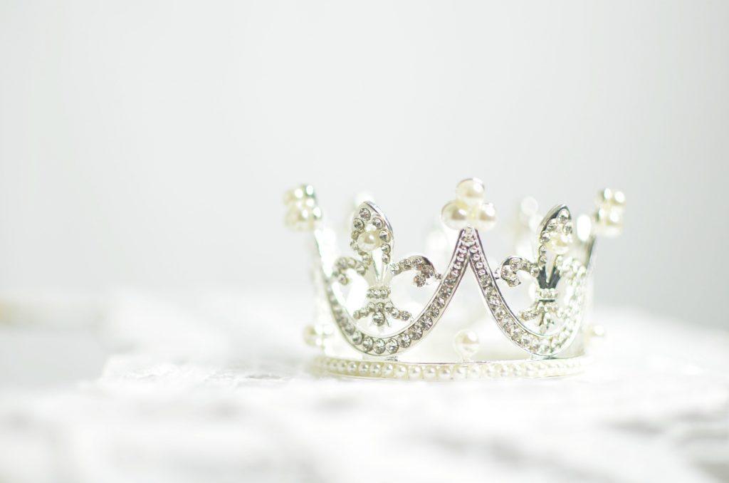 a silver crown