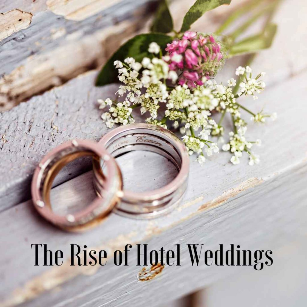 pair of wedding rings and a posie of flowers