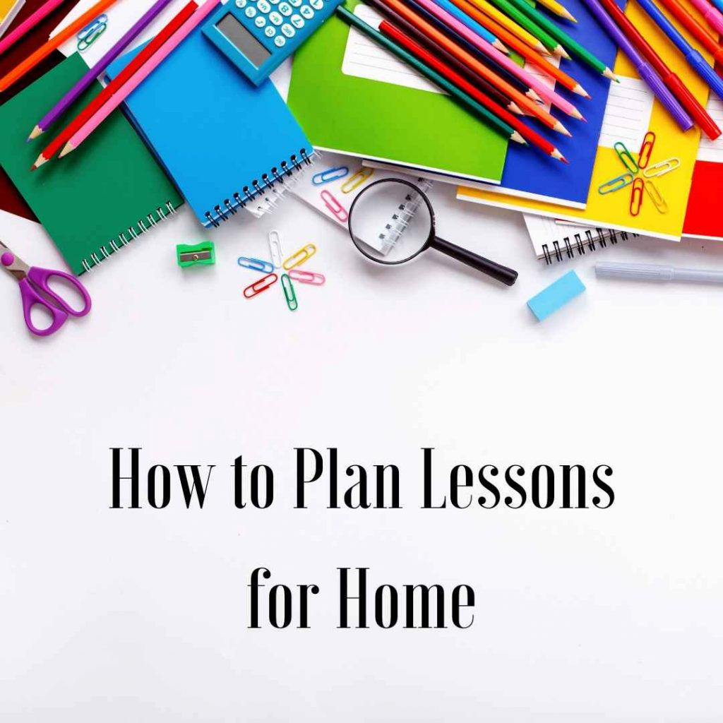Plan lessons