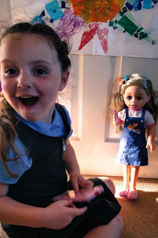 Alyssa with the call me chloe doll