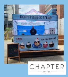 Chapter London event t's fried scoop
