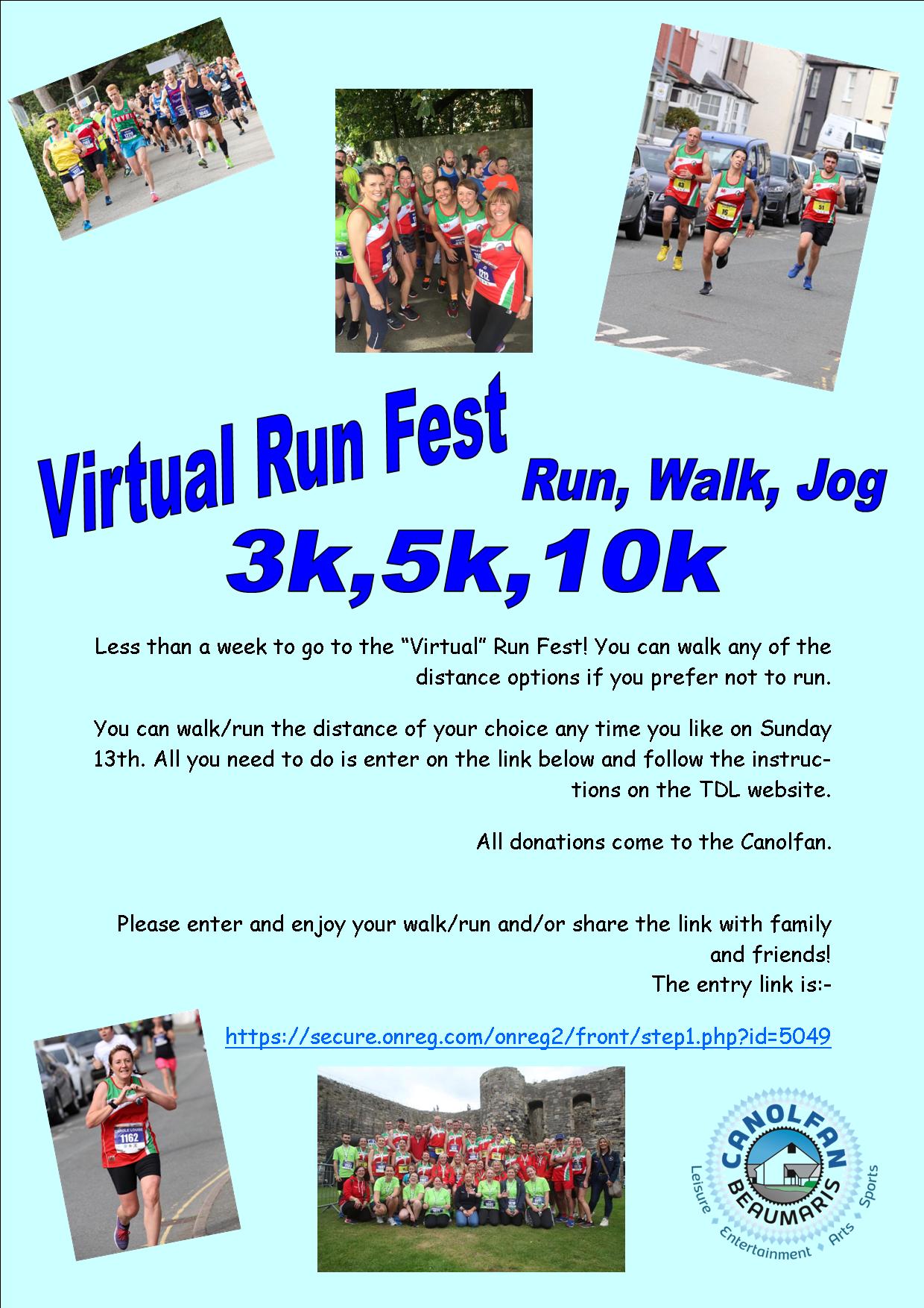 Virtual Run Fest 2020 Saes Poster