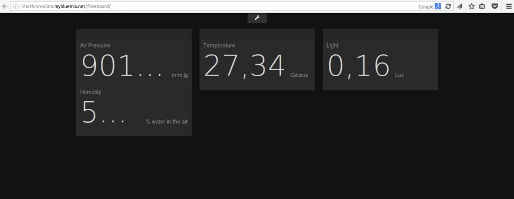Freeboard real-time web dashboard