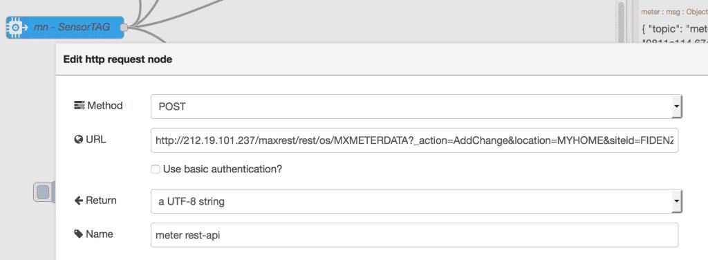 Maximo rest API for METERDATA