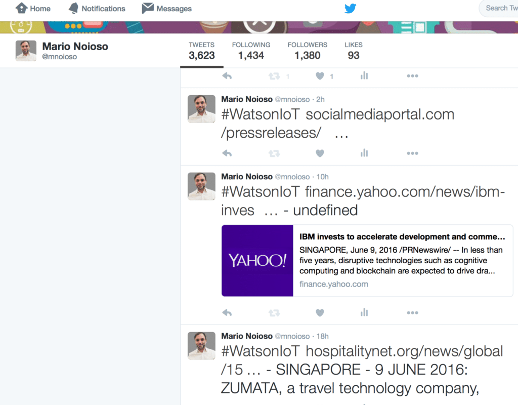 Hyper-relevant tweets based on Watson Alchemy Data News