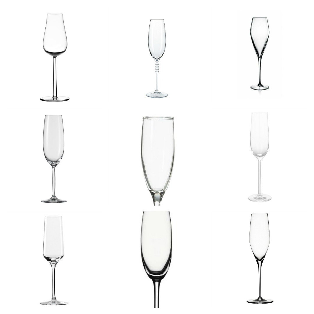 sparkling glasses