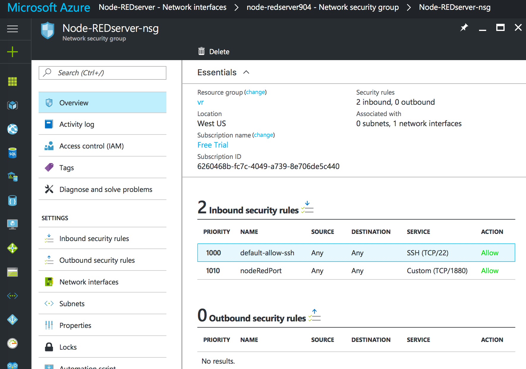 Node-RED: Running on Microsoft Azure