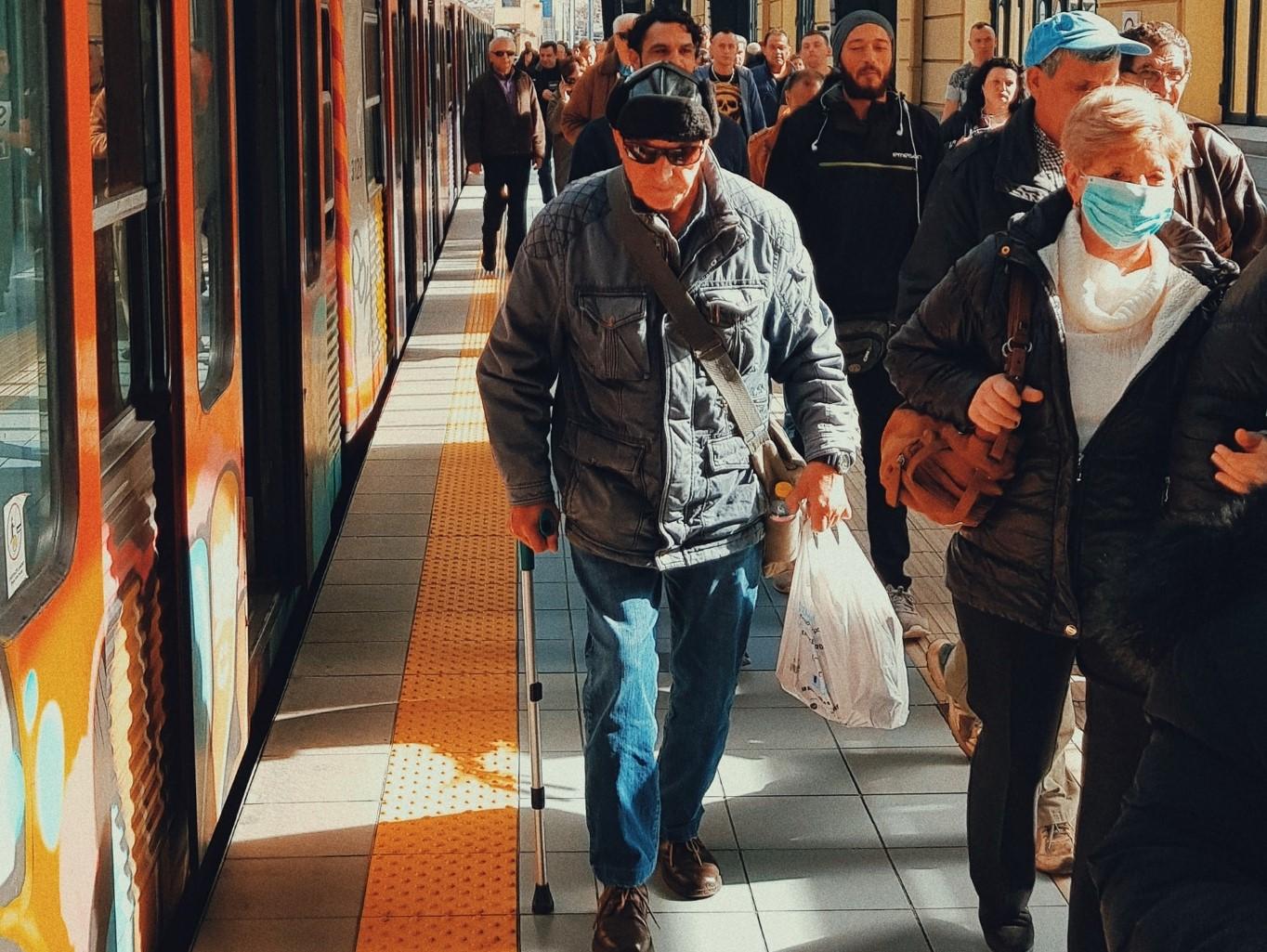 People on Train Platform