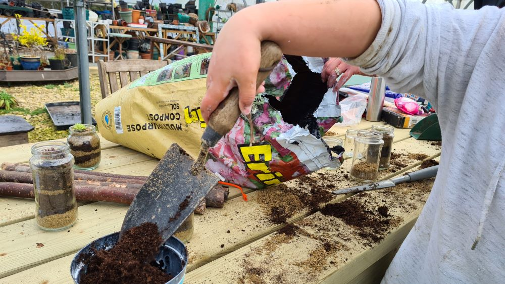 Forest School Planting Terrariums and Bulbs