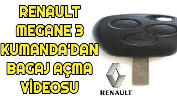 Renault Megane 3 kumandadan bagaj açma