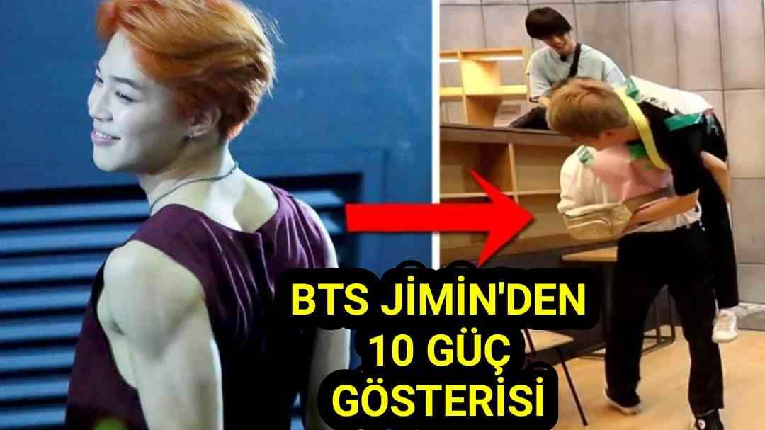 BTS Jimin Kuvvet Gösterisi 10 Haraket