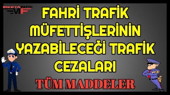 Fahri Trafik Müfettişleri Ceza Maddeleri