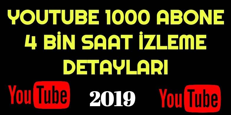 Youtube 4000 Saat 1000 Abone